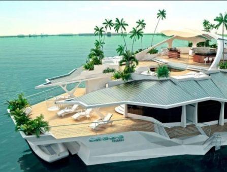Яхта — остров